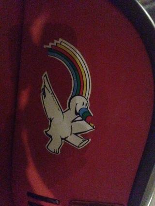 A sticker of curro I found on a super old Vespa